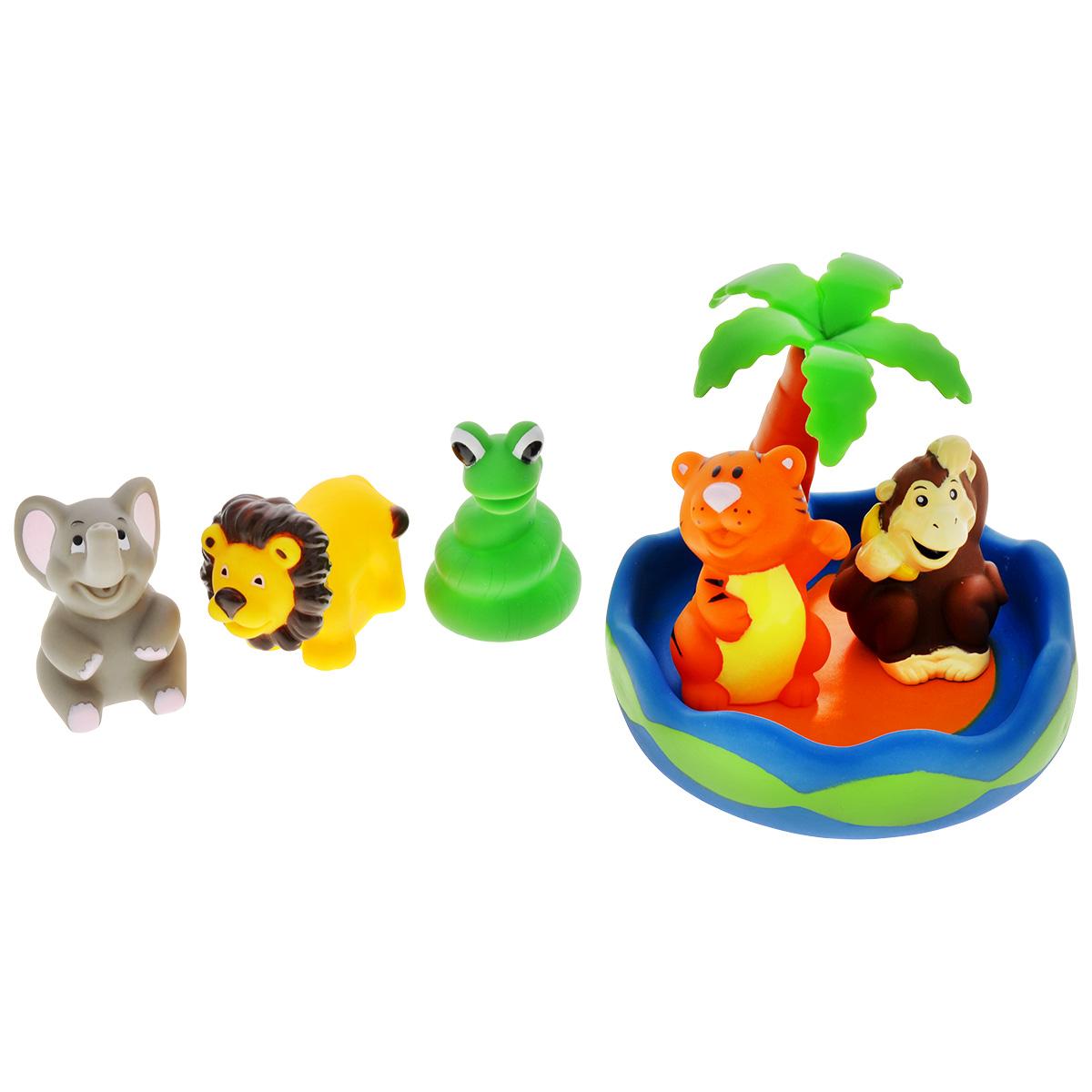 Игровой набор для ванны Mioshi Чудесный остров, 6 шт игровой набор для ванны mioshi пароходики 3 шт