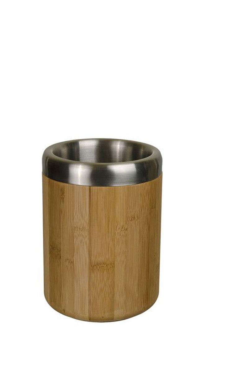 Охладитель для бутылки LurchVT-1520(SR)Охладитель для бутылок Lurch - это оригинальное приспособление, позволяющее в течение длительного времени поддерживать температуру напитков. Внешние стенки изделия изготовлены из натурального бамбука, внутренние из нержавеющей стали. Благодаря таким материалам, бутылка, которую вы заранее охладили в холодильнике или в морозильной камере, будет сохранять температуру, даже несмотря на жару на улице или в парной.Диаметр охладителя (по верхнему краю): 14 см.Высота: 20 см.