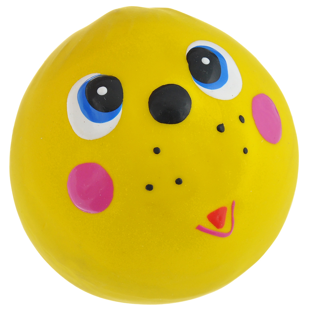 Игрушка для собак I.P.T.S. Мяч с мордочкой, цвет: желтый, диаметр 7 см0120710Игрушка для собак I.P.T.S. Мяч с мордочкой, изготовленная из высококачественного латекса, выполнена в виде мячика с милой мордочкой. Такая игрушка порадует вашего любимца, а вам доставит массу приятных эмоций, ведь наблюдать за игрой всегда интересно и приятно. Оставшись в одиночестве, ваша собака будет увлеченно играть.Диаметр: 7 см.