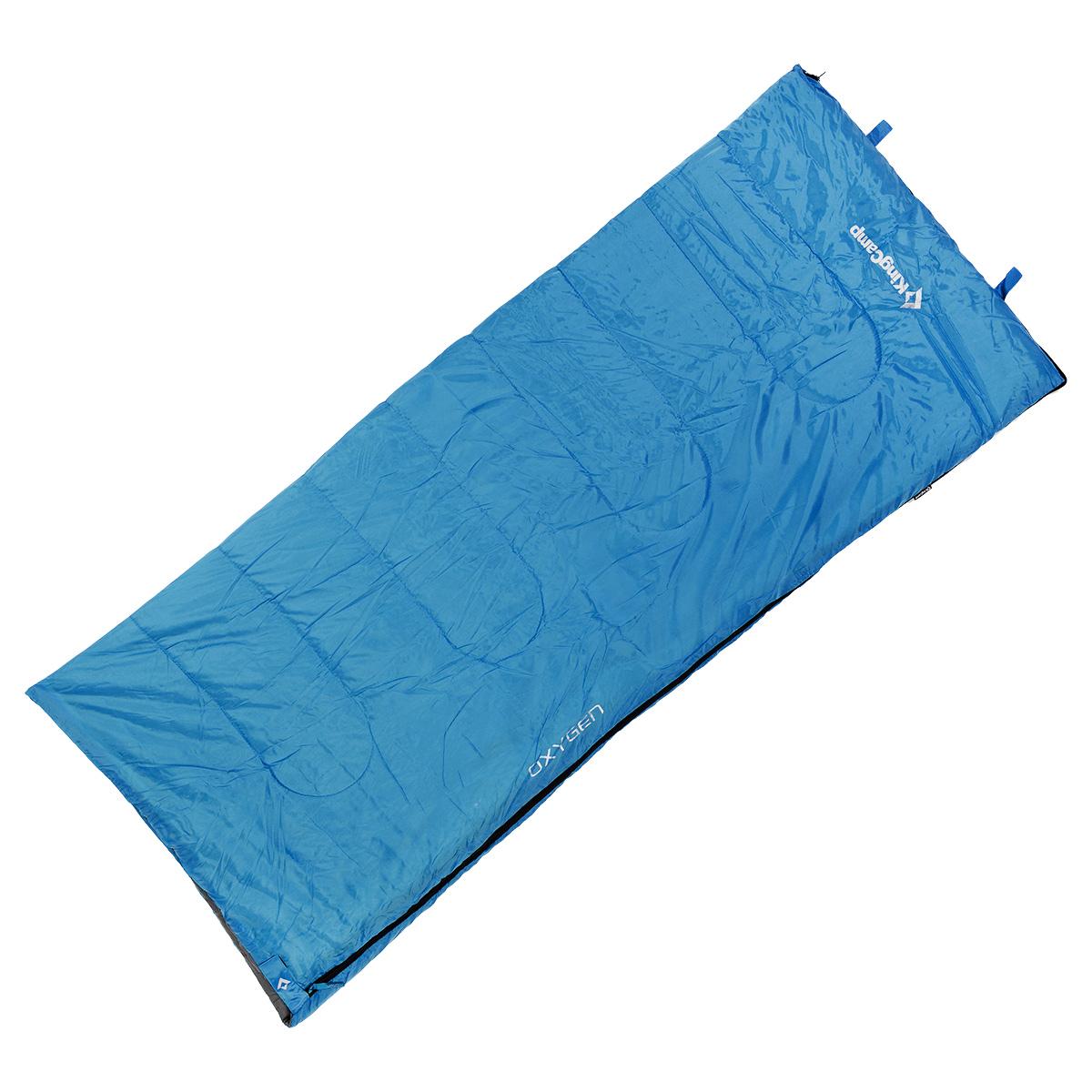 Спальный мешок-одеяло KingCamp Oxygen, цвет: синий, 180 см х 75 см010-01199-23Спальный мешок-одеяло KingCamp Oxygen предусмотрен для теплого времени года, так как рассчитан на температуру от +8°C до +18°С. Спальный мешок имеет двустороннюю застежку-молнию, оснащен удобным нейлоновым компрессионным мешком для переноски. В сложенном виде спальный мешок занимает очень мало места и весит совсем немного. Отлично подходит для летних походов, кемпинга, треккинга и велотуризма.Вес: 920 г.
