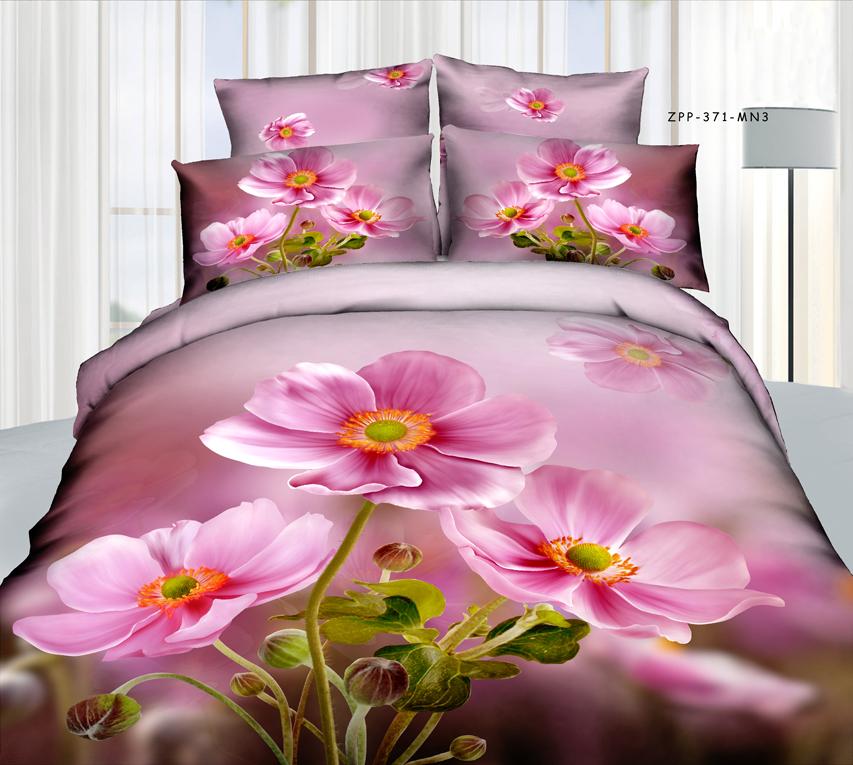 Комплект белья 3D Mango, семейный, наволочки 70х70, цвет: розовый, сиреневый, зеленый. M-605-143-220-70188438Комплект постельного белья Mango является экологически безопасным для всей семьи, так как выполнен из высококачественного сатина (100% хлопка). Комплект состоит из двух пододеяльников на молнии, простыни и двух наволочек. Постельное белье оформлено ярким рисунком цветов с эффектом 3D и имеет изысканный внешний вид. Сатин - производится из высших сортов хлопка, а своим блеском, легкостью и на ощупь напоминает шелк. Постельное белье из сатина превращает жаркие летние ночи в прохладные и освежающие, а холодные зимние - в теплые и согревающие. Благодаря натуральному хлопку, постельного белье из сатина приобретает способность пропускать воздух, давая возможность телу дышать. Одно из преимуществ материала в том, что он практически не мнется и ваша спальня всегда будет аккуратной и нарядной.