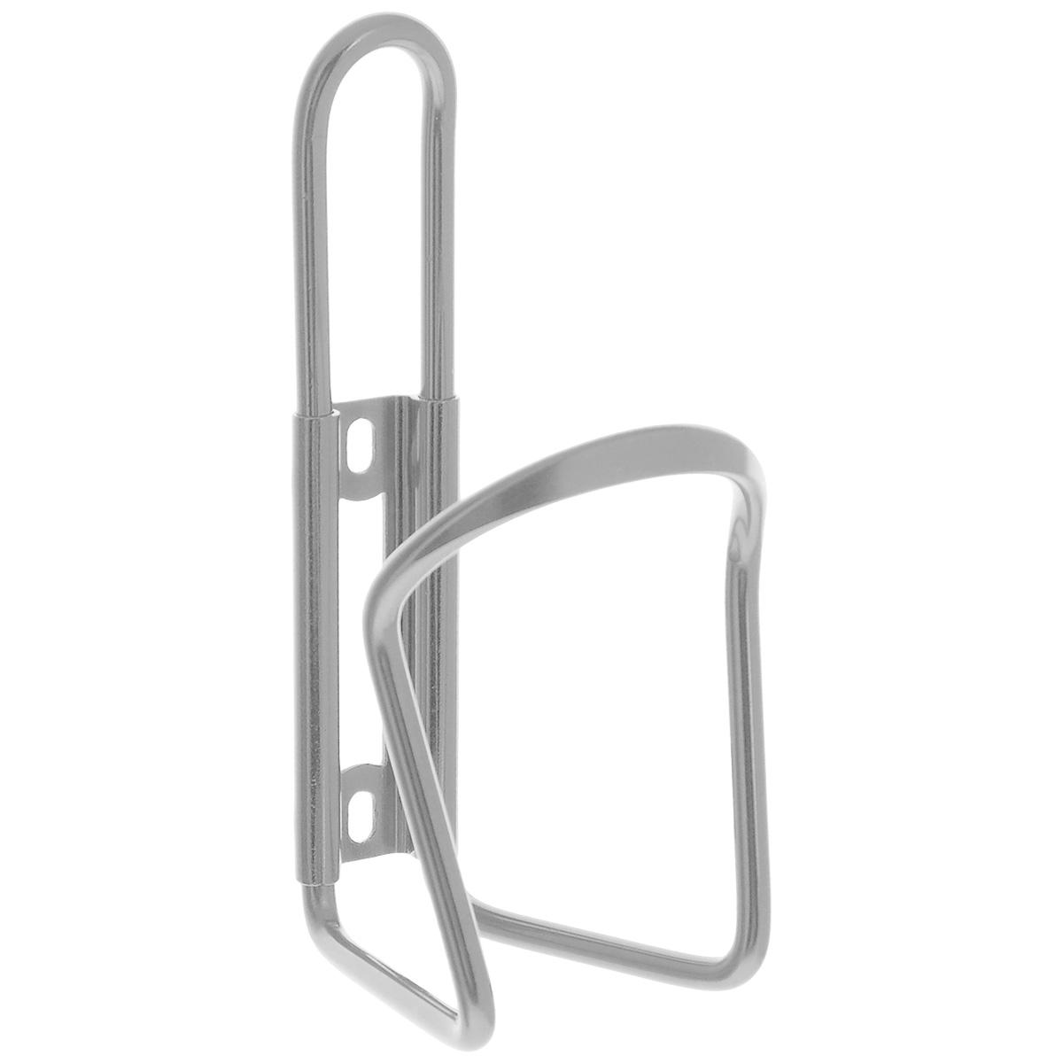 Флягодержатель Larsen, цвет: серебристыйMW-1462-01-SR серебристыйАлюминиевый флягодержатель Larsen, способный удерживать не только велофлягу, но и обычные пластиковые бутылки, закрепляется на раме велосипеда. Это незаменимая вещь для спортсменов и любителей длительных велосипедных прогулок. Благодаря держателю, фляга с водой будет у вас всегда под рукой.Держатель подходит для бутылок объемом от 0,5 л до 1 л и диаметром 6-10 см.