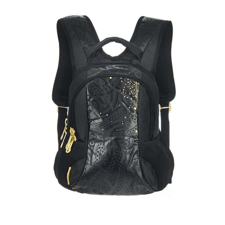 Рюкзак городской Grizzly, цвет: черный, желтый, 20 л. RS-430-3/3RD-418-1/4Рюкзак Grizzly - это удобный и практичный рюкзак, изготовленный из нейлона. Рюкзак имеет одно главное и одно дополнительное отделение, которые закрываются на застежку-молнию. Внутри дополнительного отделения - пять небольших кармашков для письменных принадлежностей. По бокам рюкзака - два кармана на резинке. Модель имеет укрепленную спинку с мягкими рельефными вставками и анатомическими лямками, а также ручку для переноски. Такой рюкзак - практичное и стильное приобретение на каждый день.Размер рюкзака (ДхШхВ): 35 х 25 х 11 см.