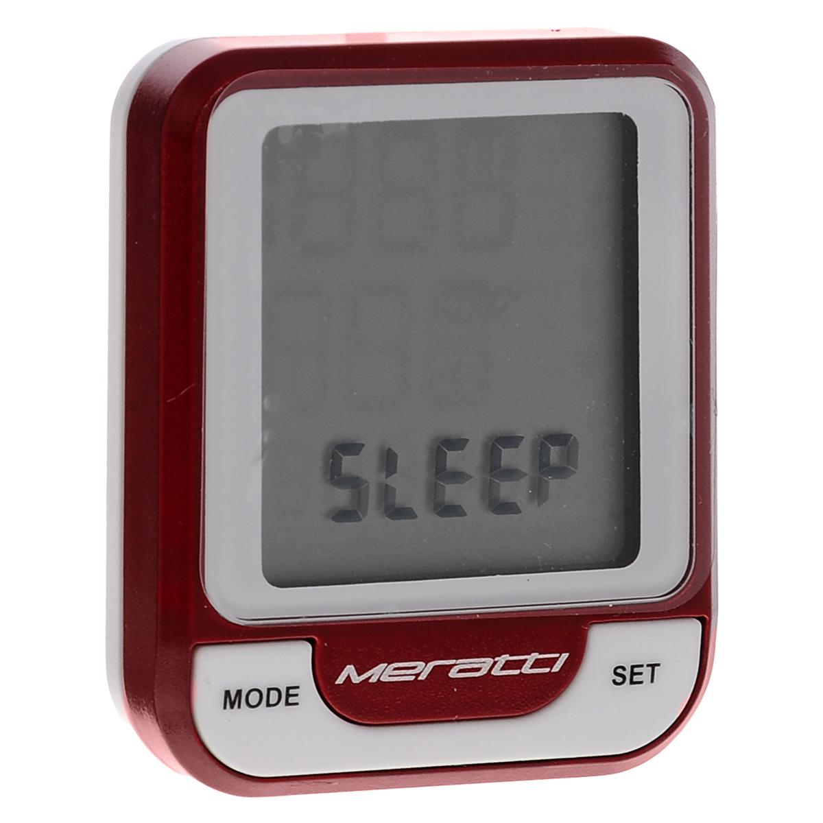 Велокомпьютер беспроводной Meratti, с кардиодатчикомГризлиБеспроводной компьютер Meratti выполнен из высококачественного прочного пластика. Оснащен кардиодатчиком C014. Компьютер питается от 1 батарейки CR2032 (в комплекте).Особенности: Аналоговый способ передачи сигнала 5.3K. Показания монитора: время (часы, минуты, секунды), скорость, средняя скорость, максимальная скорость, тенденция скорости, пульс, средний пульс, максимальный пульс, тенденция пульса, 4 пакета зон пульса, время поездки, суммарное время пробега, общий пробег, общий расход калорий. Режимы: SCAN.