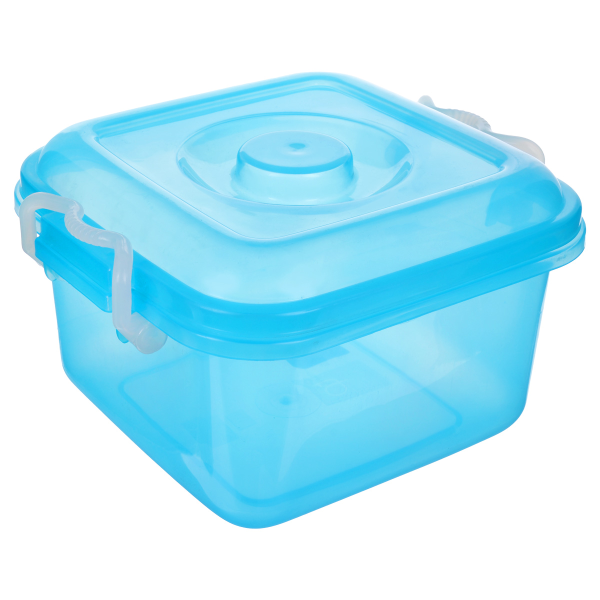 Контейнер для хранения Idea Океаник, цвет: голубой, 6 лCLP446Контейнер Idea Океаник выполнен из полупрозрачного цветного пластика, предназначен для хранения различных вещей и мелких аксессуаров.Контейнер снабжен плотно закрывающейся крышкой со специальными боковыми фиксаторами. Объем контейнера: 6 л.
