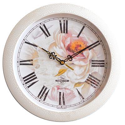 Часы настенные Troyka, цвет: белый. 11173107300074_ежевикаНастенные кварцевые часы Troyka в винтажном стиле, изготовленные из пластика, прекрасно подойдут под интерьер вашего дома. Круглые часы имеют три стрелки: часовую, минутную и секундную, циферблат защищен прозрачным пластиком.Диаметр часов: 29 см.Часы работают от 1 батарейки типа АА напряжением 1,5 В. Внимание! Часы укомплектованы бесплатным тестовым элементом питания для обеспечения их работоспособности при предпродажной подготовке и демонстрации рабочих функций.