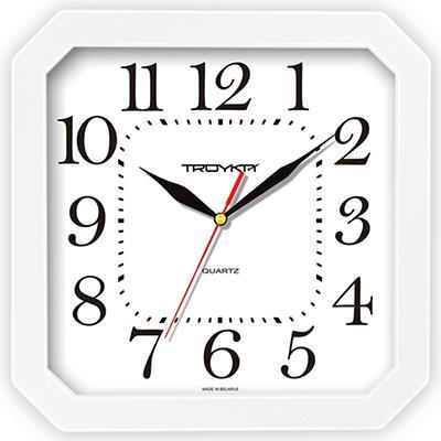 Часы настенные Troyka, цвет: белый. 31310316300074_ежевикаНастенные кварцевые часы Troyka, выполненные в классическом стиле, изготовленные из пластика, прекрасно подойдут под интерьер вашего дома. Квадратные часы имеют три стрелки: часовую, минутную и секундную, циферблат защищен прозрачным пластиком.Размер часов: 29 см х 29 см х 3,5 см.Часы работают от 1 батарейки типа АА напряжением 1,5 В. Внимание! Часы укомплектованы бесплатным тестовым элементом питания для обеспечения их работоспособности при предпродажной подготовке и демонстрации рабочих функций.
