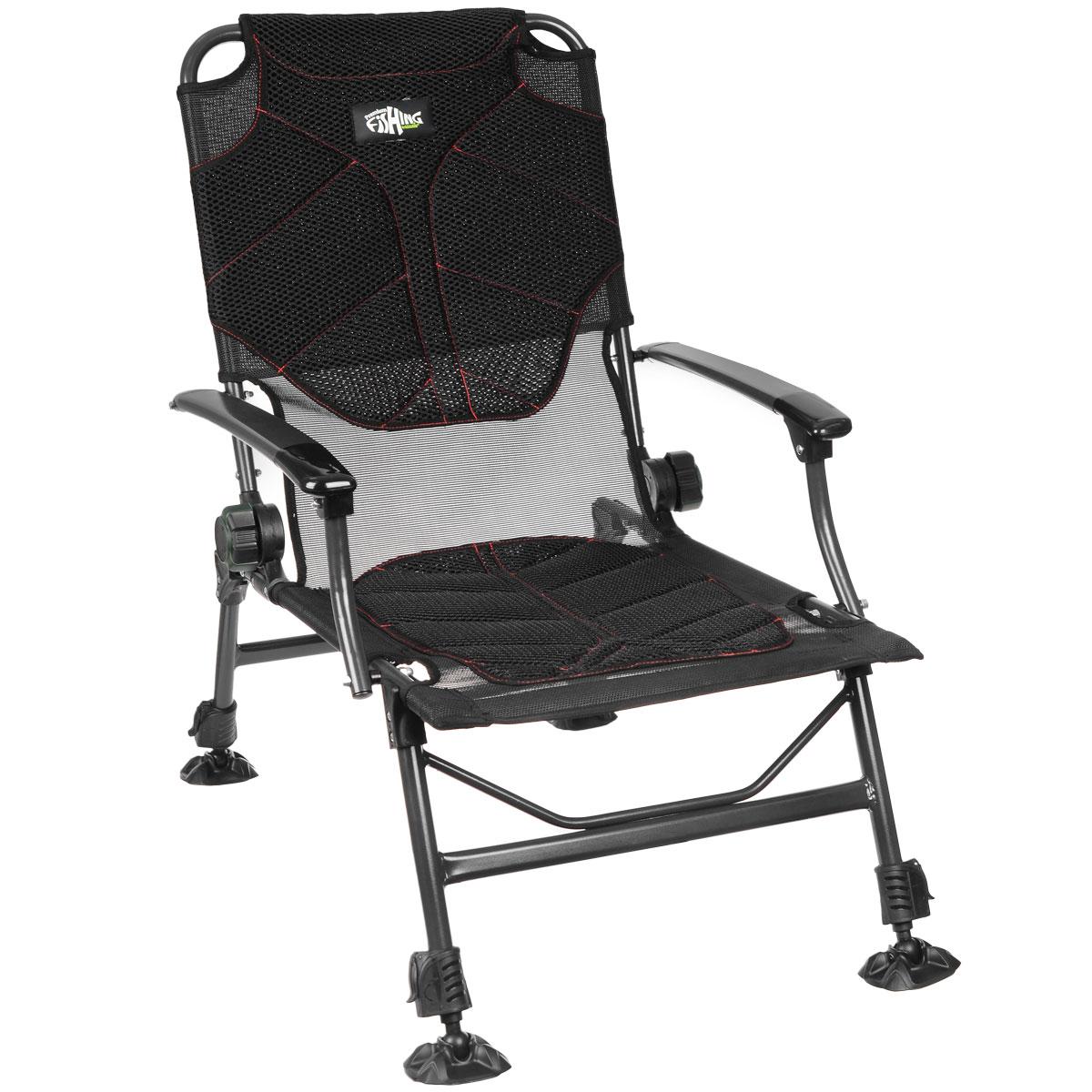 Кресло карповое Norfin Manchester NF, 55 см х 52 см х 97 смNFL-20207Кресло складное Norfin Manchester NF - это отличный выбор для рыболовов. Уникально разработанный влагостойкий, дышащий матрас создает максимальный комфорт при любой погоде. В жару кресло будет проветриваться сквозь отверстия сетки в сиденье и на спинке, в дождь оно будет пропускать влагу и быстро сохнуть. Наклон спинки регулируется. Кресло имеет ножки с возможностью независимой регулировки высоты и широкими опорами.