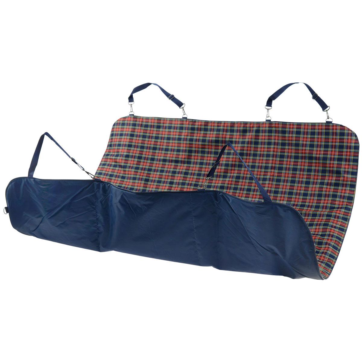 Автогамак для собак Titbit, цвет: синий, 142 см х 140 см0120710Автогамак для собак Titbit изготовлениз прочного водостойкого материала с утеплителем внутри. Легко монтируется при помощи ремней на заднем сидении автомобиля, защищая его от загрязнений. Незаменим при транспортировке животного на дачу, в ветклинику, после прогулок на природе, также может служить лежаком или пледом.Подходит для любых типов автомобилей. Размер коврика: 142 см х 140 см.