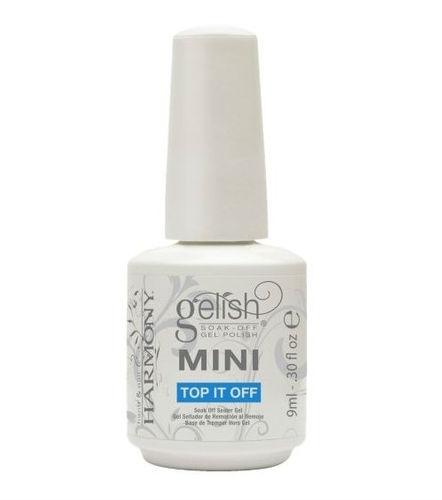 Gelish Mini Финиш-гель классический (3 фаза), 9 млSC-FM20104Этот гель является третьей фазой при работе с системой Gelish. Легко удаляется при помощи препарата Soak Off Artifical Nail Remover, держится на ногтях до трех недель.