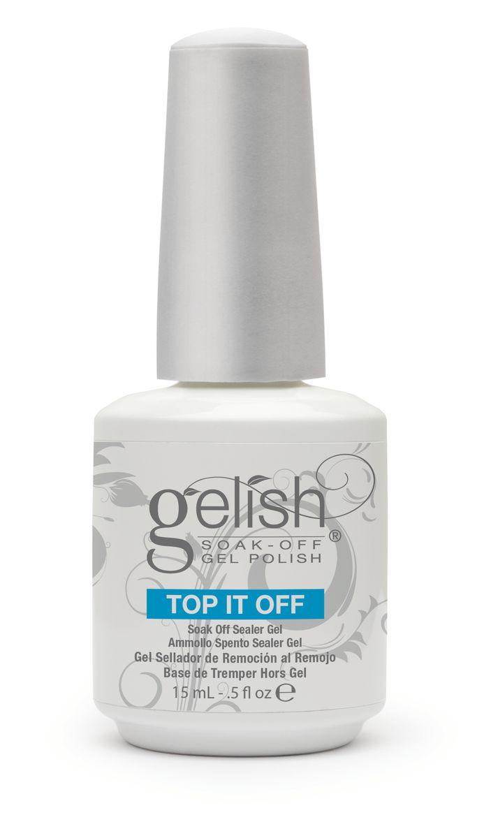 Gelish Финиш-гель классический (3 фаза), 15 мл616-106889Этот гель является третьей фазой при работе с системой Gelish. Легко удаляется при помощи препарата Soak Off Artifical Nail Remover, держится на ногтях до трех недель.