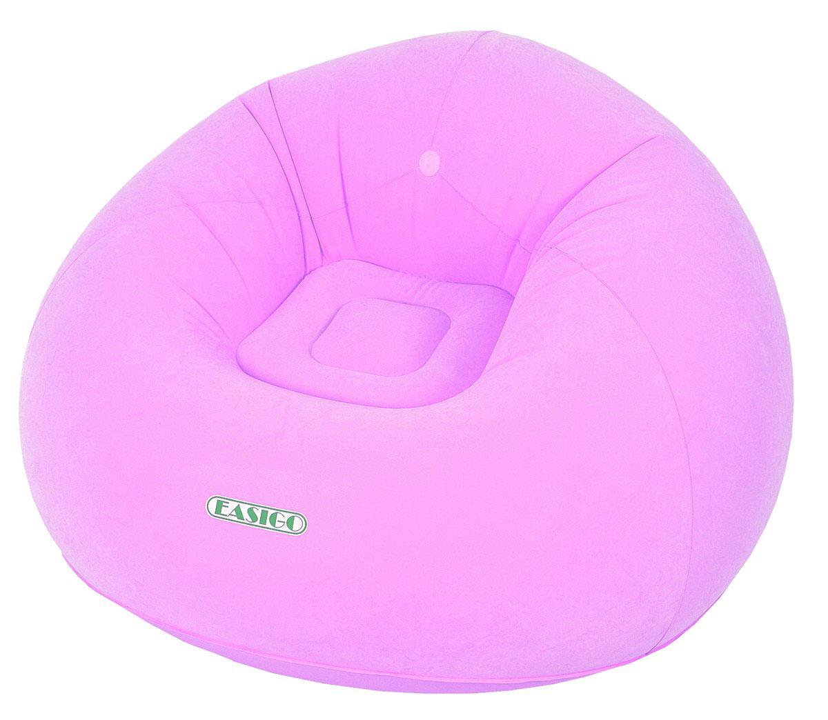 Кресло надувное Relax Easigo, цвет: розовый, 105 х 105 х 65 смJL037222N(н)Кресло надувное Relax Easigo выполнено из высококачественного винила с велюровым покрытием. Отлично подойдет для использования дома или в офисе.Особенности кресла:- Водоотталкивающее флоковое покрытие.- Надежный клапан для быстрого сдувания и надувания.- Самоклеящаяся заплатка прилагается.Сдержанный дизайн, нейтральные цвета подходят к любому интерьеру и делают надувное кресло RELAX отличным выбором. Кресло поставляется в сдутом виде.