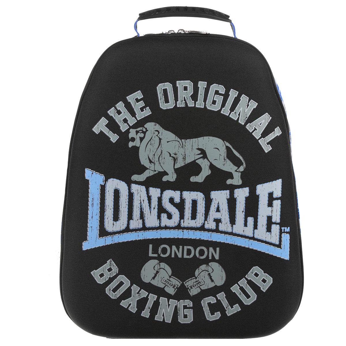Рюкзак молодежный Lonsdale, цвет: черный, серый, голубой. LSCB-UT1-E150RD-418-1/1Стильный и молодежный рюкзак Lonsdale сочетает в себе современный дизайн, функциональность и долговечность. Выполнен из прочных материалов и оформлен изображением льва.Содержит изделие одно вместительное отделение на застежке-молнии с двумя бегунками. Внутри отделения находятся: открытый карман-сетка, карман-сетка на молнии, две мягкие перегородки и отделение для мобильного телефона. Фронтальная панель рюкзака выполнена из EVA, благодаря чему рюкзак не деформируется. Мягкие широкие лямки регулируются по длине. Рюкзак оснащен эргономичной ручкой для удобной переноски в руке. Этот рюкзак можно использовать для повседневных прогулок, отдыха и спорта, а также как элемент вашего имиджа.Рекомендуемый возраст: от 12 лет.