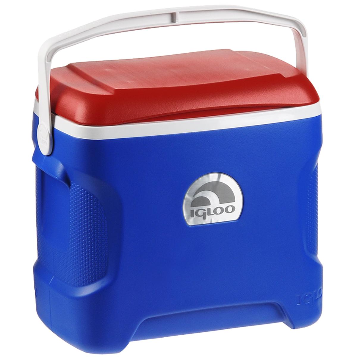 """Изотермический контейнер Igloo """"Contour"""", цвет: синий, белый, красный, 28 л"""