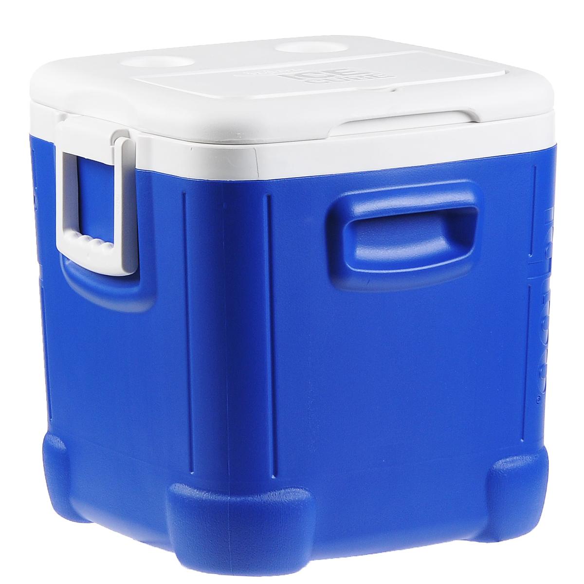 Контейнер изотермический Igloo Ice Cube, 45 л44347Удобный и прочный изотермический контейнер Igloo Ice Cube предназначен для сохранения определенной температуры продуктов во время длительных поездок. Корпус и крышка контейнера изготовлены из высококачественного пластика. Между двойными стенками находится термоизоляционный слой, который обеспечивает сохранение температуры. У контейнера одно большое вместительное отделение и 2 небольших на крышке. Крышка плотно плотно закрывается. Контейнер оснащен 2 ручками по бокам для переноски. При использовании аккумулятора холода контейнер обеспечивает сохранение продуктов холодными до 24 часов. Контейнер такого размера идеально подойдет для пикника или для поездки на дачу, или просто для длительной поездки.Контейнеры Igloo Ice Cube можно использовать не только для сохранения холодных продуктов, но и для транспортировки горячих блюд. В этом случае аккумуляторы нагреваются в горячей воде (температура около 80°С) и превращаются в аккумуляторы тепла. Подготовленные блюда перед транспортировкой подогреваются и укладываются в контейнер.