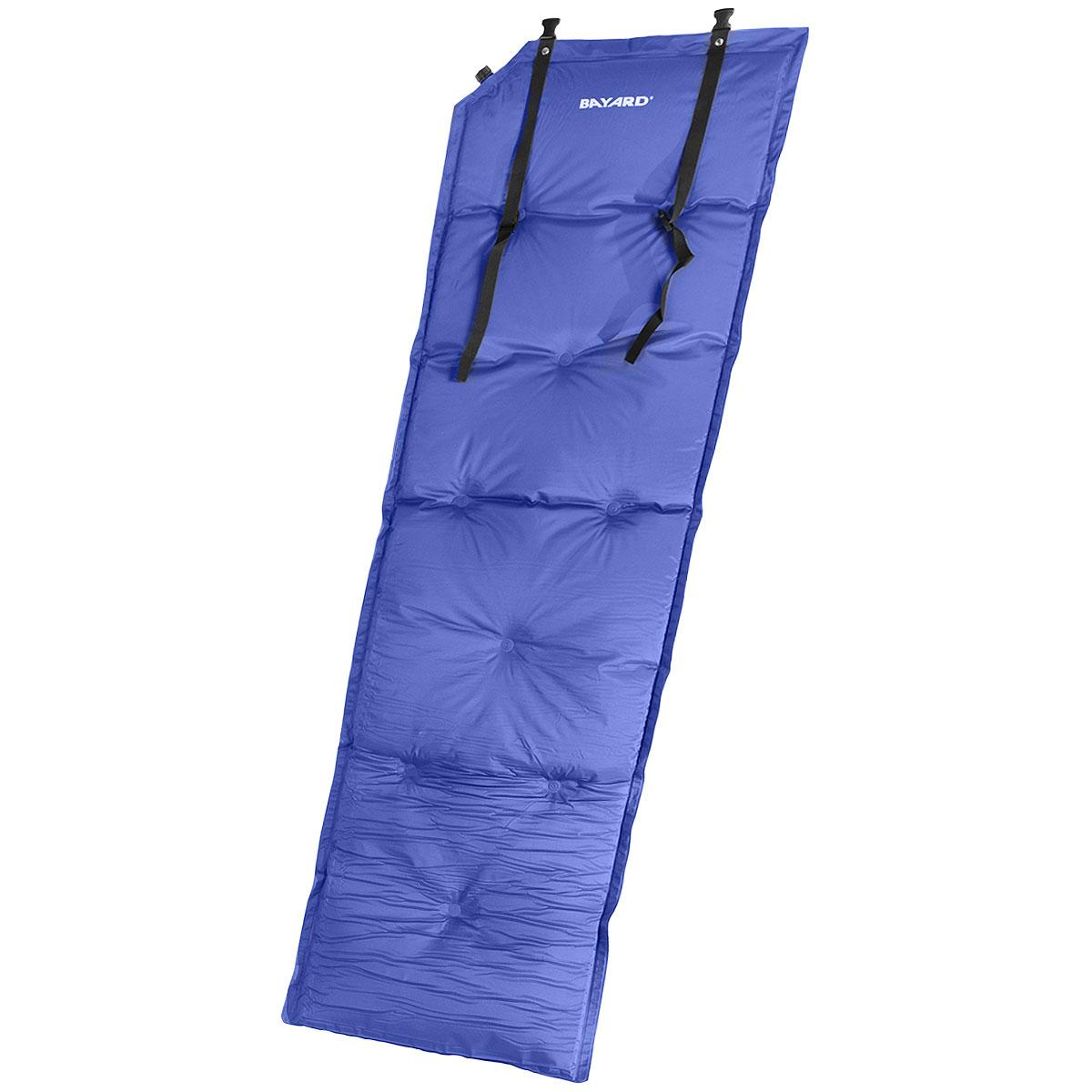 Коврик самонадувающийся Bayard V-Max 25, цвет: синий, 188 см х 55 см х 2,5 смSPIRIT ED 1050Самонадувающийся туристический коврик с подушкой Bayard V-Max 25 предназначен для теплоизоляции, например, между почвой и телом лежащего человека, а также для предохранения спального мешка от повреждений и влаги. Очень простой в использовании, легко и быстро надувается, компактный и легкий. Для того, чтобы надуть коврик, просто откройте клапан, через пару минут коврик расправится и закройте клапан. Подушку необходимо надуть самостоятельно! Коврик готов к использованию! Он не даст вам замерзнуть и сделает отдых более комфортным даже на корнях или на камнях. Изделие отличается прочностью и износостойкостью.В комплекте чехол для переноски и хранения.