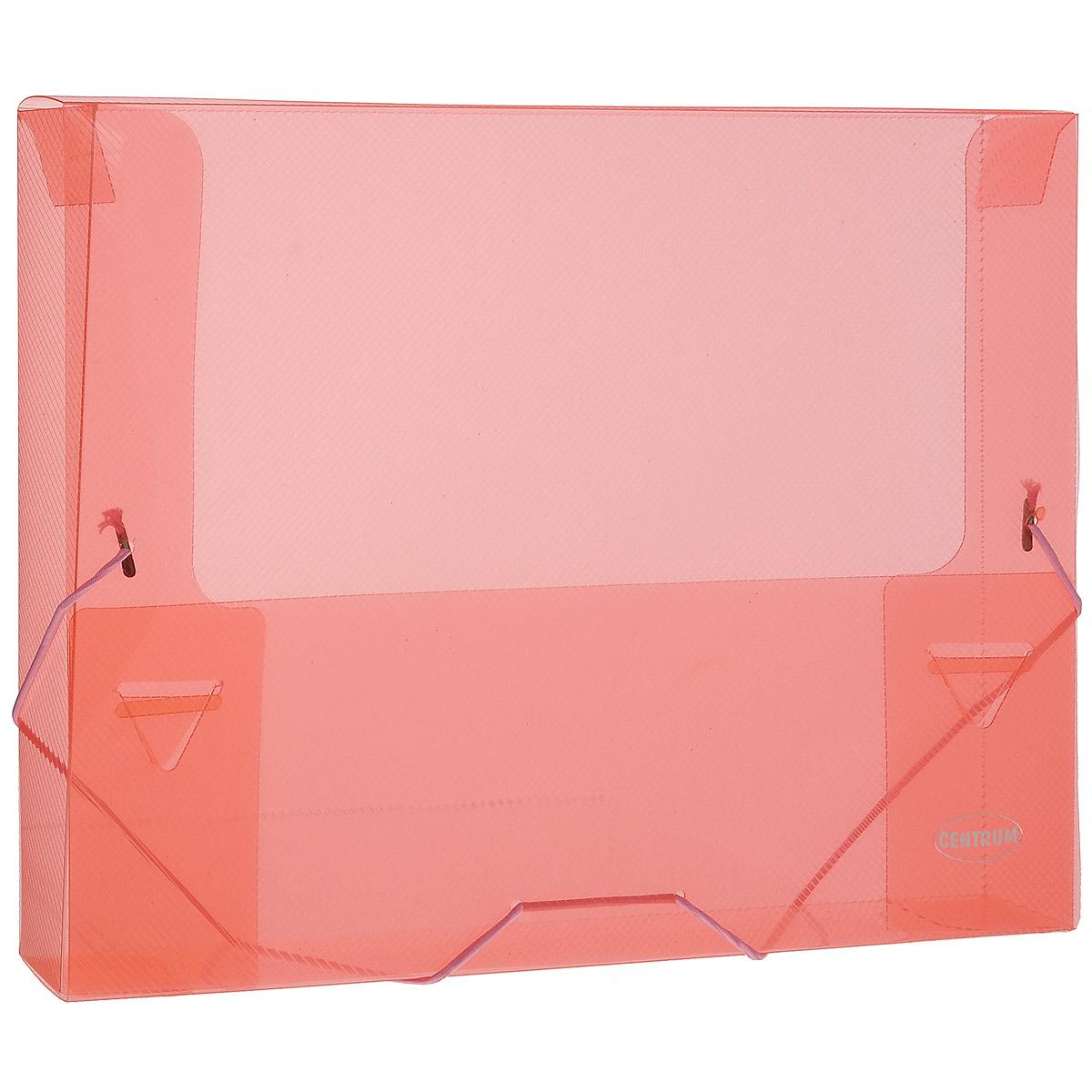 Папка на резинках Centrum пластиковая, формат А4, цвет: коралловыйПК5_11949Папка на резинке Centrum станет вашим верным помощником дома и в офисе. Это удобный и функциональный инструмент, предназначенный для хранения и транспортировки больших объемов рабочих бумаг и документов формата А4.Она изготовлена из износостойкого высококачественного пластика. Папка - это незаменимый атрибут для любого студента, школьника или офисного работника. Такая папка надежно сохранит ваши бумаги и сбережет их от повреждений, пыли и влаги.