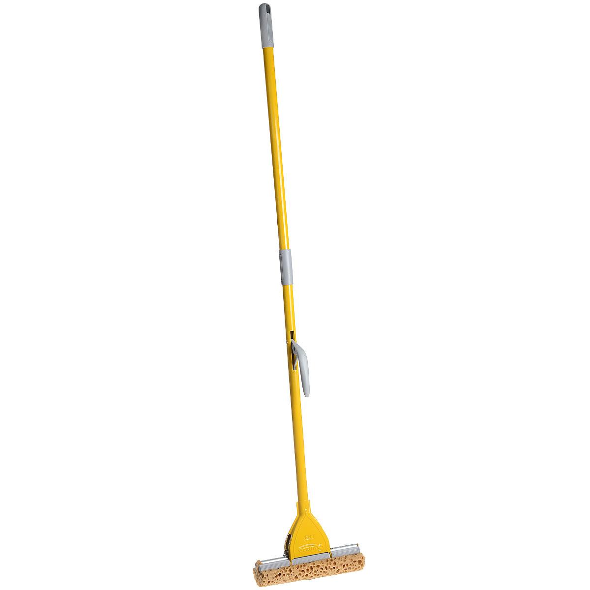 Швабра Apex Minor, с отжимом, цвет: желтый, серый, 25 см531-402Швабра Apex Minor предназначена для уборки в доме.Насадка, изготовленная из поролона, крепится к стальной трубке. Насадка имеет специальную форму, которая позволяет легко и качественно мыть полы.Специальная система отжима позволяет отжимать воду более эффективно, чем вручную.Ширина рабочей поверхности: 25 см.Длина ручки: 130 см.