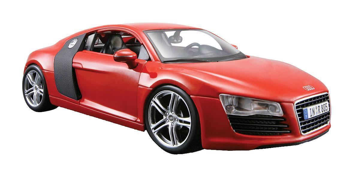 Радиоуправляемая модель Audi R8 V10 является точной уменьшенной копией настоящего автомобиля. Модель привлечет внимание не только ребенка, но и взрослого. Машинка при помощи пульта управления движется вперед, дает задний ход, поворачивает влево и вправо, останавливается. С помощью пульта управления также можно контролировать свет передних фар (выключение, ближний свет, дальний свет). Машина развивает хорошую скорость и обладает высокой стабильностью движения, что позволяет полностью контролировать процесс, управляя уверенно и без суеты. Пульт управления имеет три частоты, что позволяет одновременно управлять 2-3 моделями. Такая модель станет отличным подарком не только любителю автомобилей, но и человеку, ценящему оригинальность и изысканность, а качество исполнения представит такой подарок в самом лучшем свете.