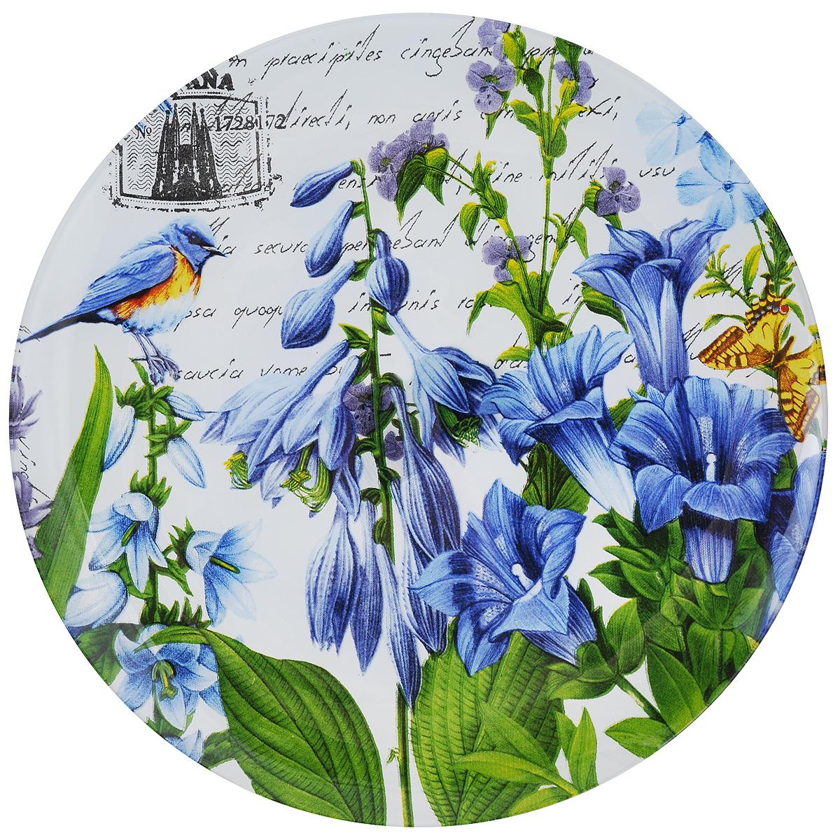 Тарелка Zibo Shelley Колокольчики, диаметр 25 см115510Круглая тарелка Zibo Shelley Колокольчики, изготовленная из стекла, декорирована ярким изображением цветов. Она не только украсит сервировку вашего стола и подчеркнет прекрасный вкус хозяйки, но и станет отличным подарком. Можно использовать в посудомоечной машине и СВЧ.Диаметр: 25 см. Высота: 1,5 см.