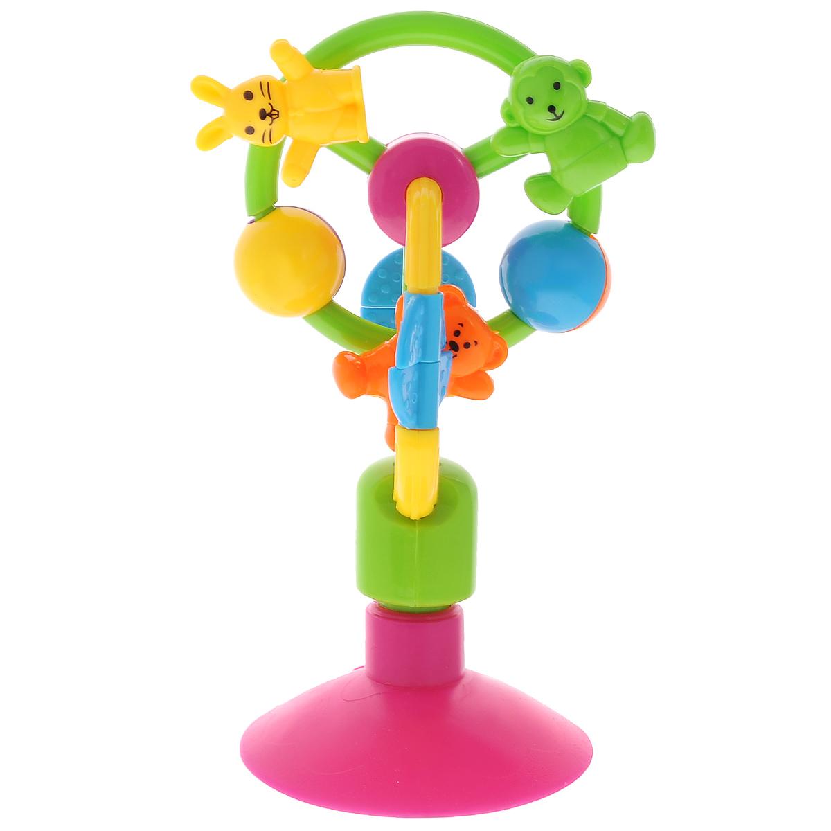 Погремушка-карусель Mioshi Зверюшки на Карусели развивающая игрушка погремушка mioshi черепашка