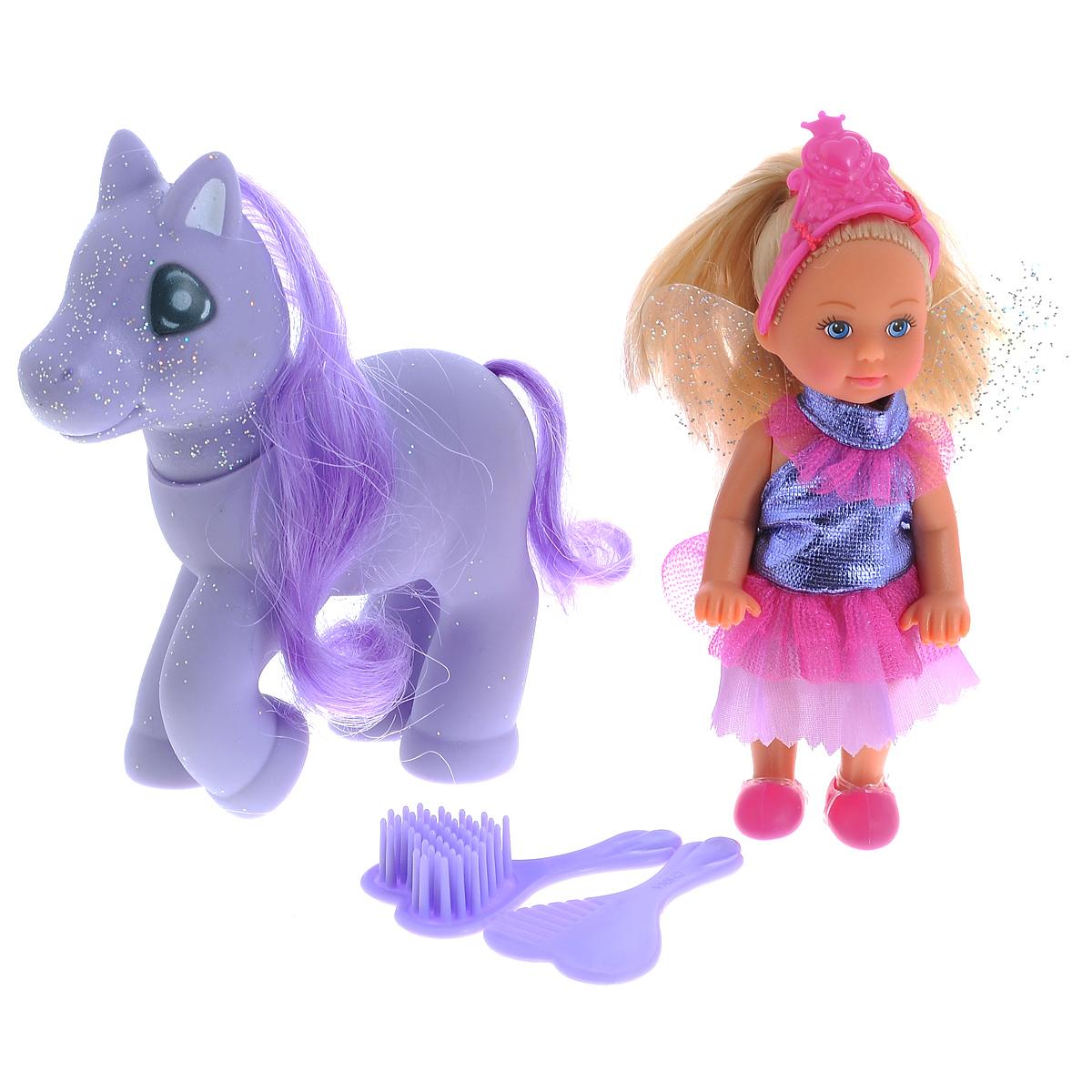 Simba Мини-кукла Еви Little Fairy & Pony simba кукла little flower