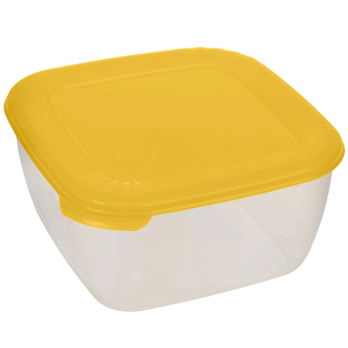 Контейнер для СВЧ Полимербыт Лайт, цвет: прозрачный, желтый, 950 млVT-1520(SR)Контейнер Полимербыт Лайт квадратной формы, изготовленный из прочного пластика, предназначен специально для хранения пищевых продуктов. Крышка легко открывается и плотно закрывается.Контейнер устойчив к воздействию масел и жиров, легко моется. Прозрачные стенки позволяют видеть содержимое. Контейнер имеет возможность хранения продуктов глубокой заморозки, обладает высокой прочностью. Можно мыть в посудомоечной машине.Контейнер подходит для использования в микроволновой печи без крышки, а также для заморозки в морозильной камере.