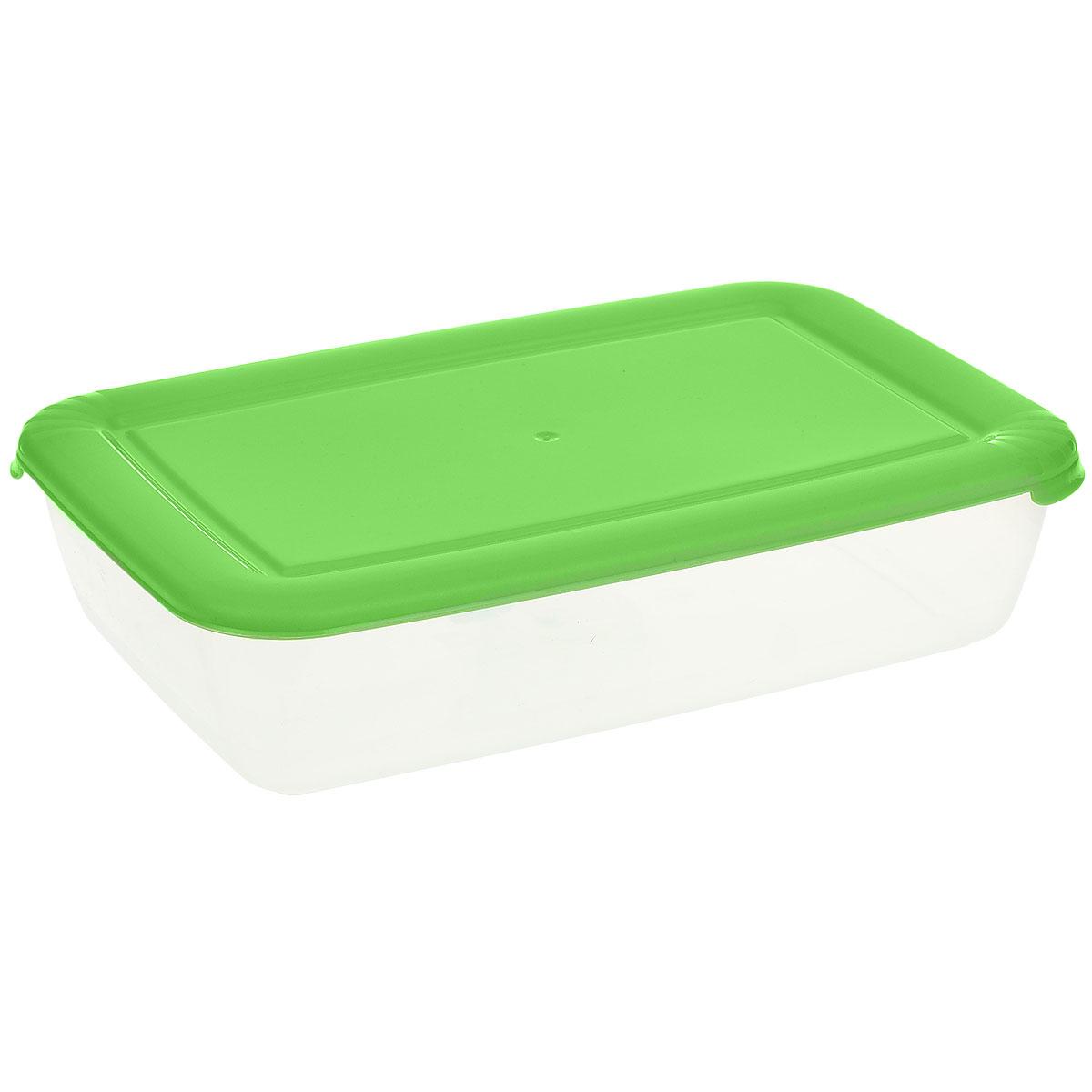 Контейнер Полимербыт Лайт, цвет: прозрачный, салатовый, 1,9 лVT-1520(SR)Контейнер Полимербыт Лайт прямоугольной формы, изготовленный из прочного пластика, предназначен специально для хранения пищевых продуктов. Крышка легко открывается и плотно закрывается.Контейнер устойчив к воздействию масел и жиров, легко моется. Прозрачные стенки позволяют видеть содержимое. Контейнер имеет возможность хранения продуктов глубокой заморозки, обладает высокой прочностью. Можно мыть в посудомоечной машине. Подходит для использования в микроволновых печах.