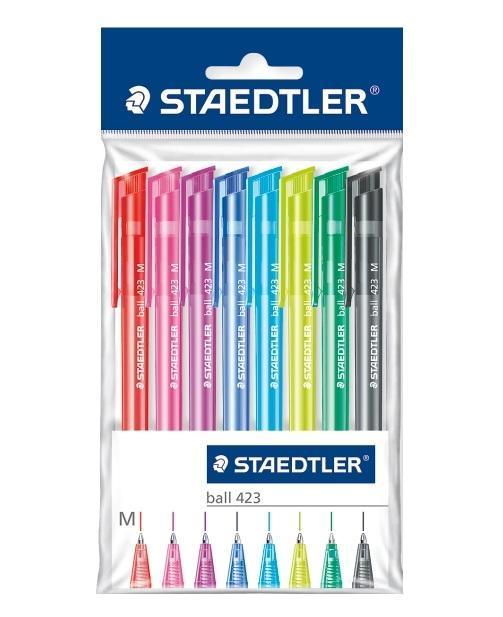 Набор шариковых ручек Staedtler Ball M с клипом. 0,5 мм. 8 цветов42335