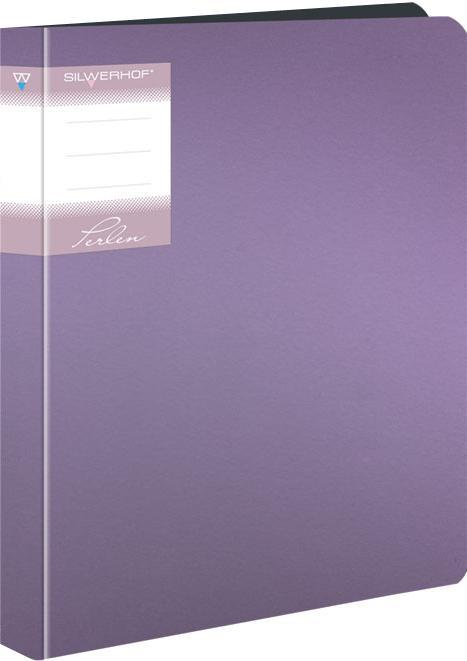 Папка со скоросшивателем, А4, р=0.7мм, PERLEN, пружин.скоросш., карман, Metallic, сиреневая арт.281901-73 ед.изм.ШтFS-54384Серия: PERLEN