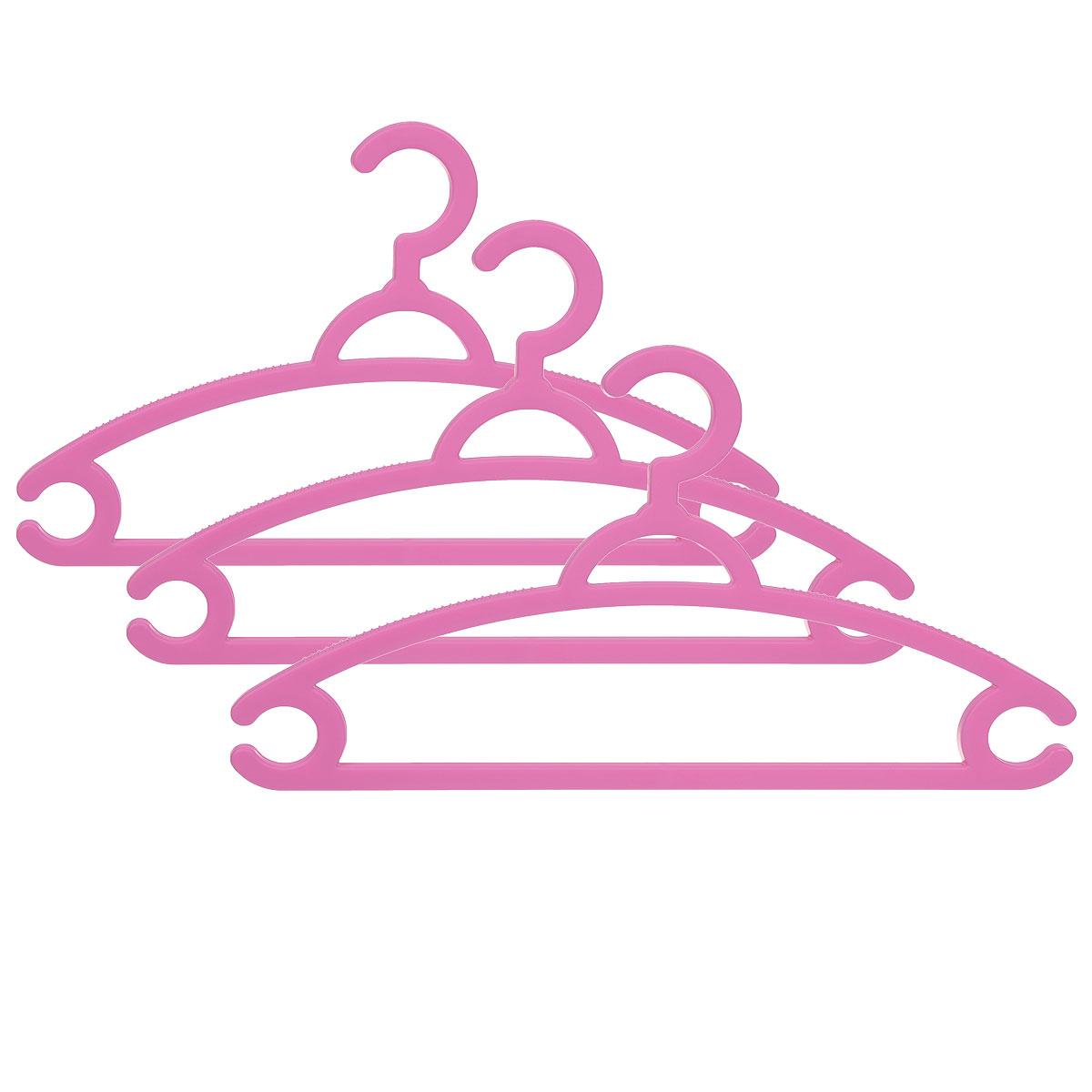 Набор вешалок для легкой одежды М-пластика, цвет: розовый, 3 шт1004900000360Набор М-пластика, выполненный из легкого и прочного пластика, состоит из трех вешалок.Изделия оснащены перекладинами и двумя крючками.Вешалка - это незаменимая вещь для того, чтобы ваша одежда всегда оставалась в хорошем состоянии.Комплектация: 3 шт.