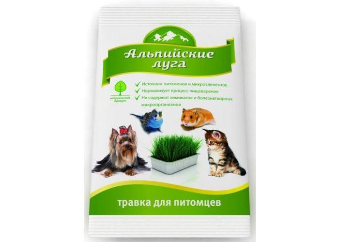 Травка для животных Альпийские луга, 100 г101246Нормализует процесс пищеварения животного. Является источником клетчатки, углеводов, витаминов и микроэлементов. Стимулирует процесс очищения желудка от шерсти. Предотвращает поедание питомцем комнатных растений.