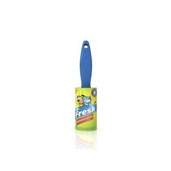 Ролик для чистки от шерсти Mr.Fresh, цвет: голубой42043SЛипкий ролик Mr.Fresh, изготовленный из пластика и бумаги с клеевым слоем, предназначен для удаления пыли, волос, ворсинок, шерсти животных с любых видов тканей. Ручка выполнена из качественного пластика. Ролик удобен в использовании. Он не оставляет следов клея на поверхности.