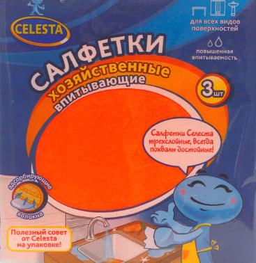 Набор хозяйственных салфеток Celesta Safari, впитывающие, 3 шт531-401Набор Celesta Safari состоит из трех высококачественных трехслойных салфеток, предназначенных для влажной и сухой уборки. Они качественно очищают любые поверхности и превосходно впитывают влагу. Салфетки не оставляют ворсинок и разводов, отлично поглощают пыль и грязь. Долговечны в эксплуатации. Характеристики: Материал: целлюлоза, пенополиуретан. Размер:15 см х 17 см. Комплектация:3 шт. Производитель:Россия. Артикул:323 T.