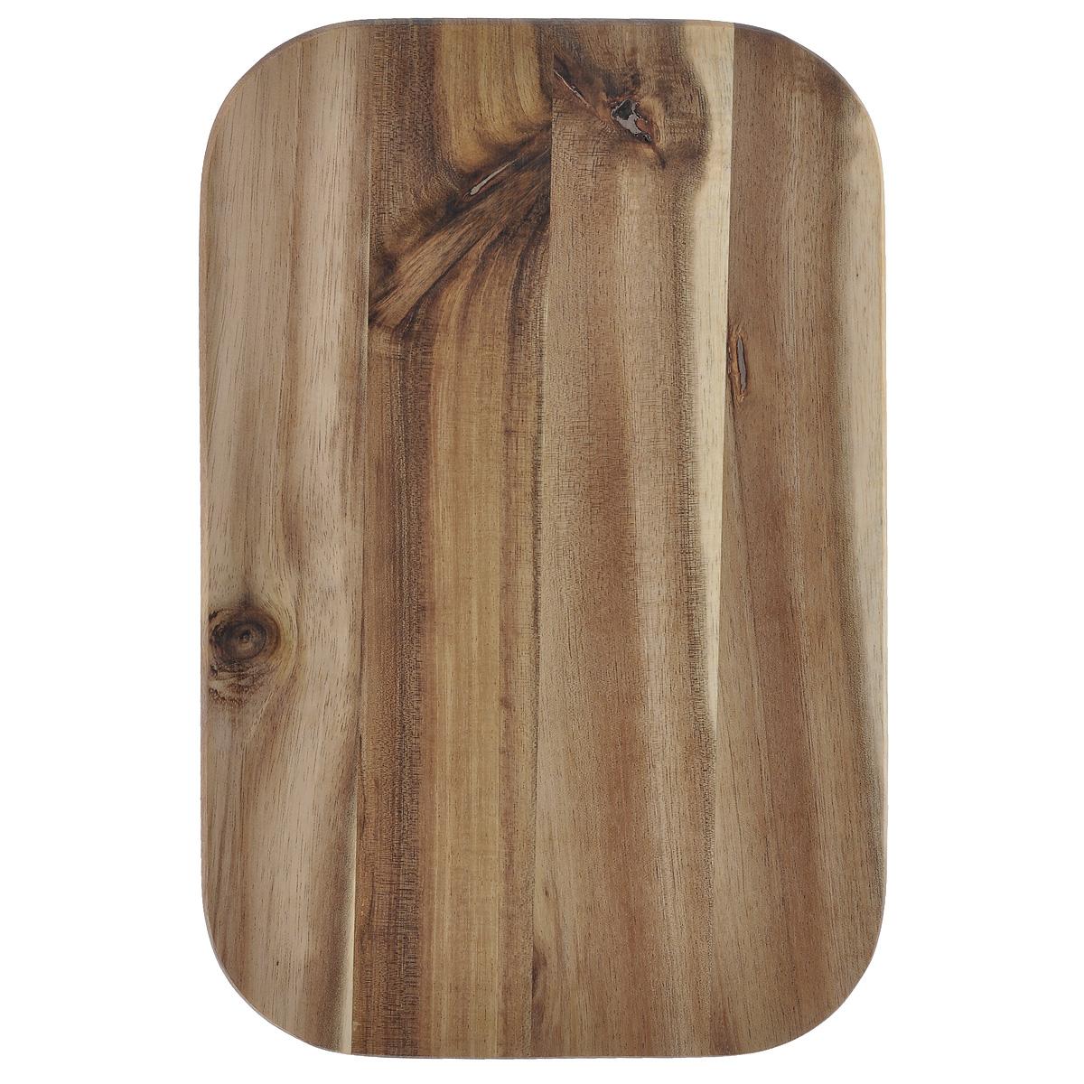 Доска разделочная Kesper, 23 см х 15 см. 2340-017025Разделочная доска Kesper изготовлена из натурального дерева акации. Благодаря среднему размеру на ней удобно разделывать различные продукты и она не занимает много места.Функциональная и простая в использовании, разделочная доска Kesper прекрасно впишется в интерьер любой кухни и прослужит вам долгие годы. Для мытья использовать неабразивные моющие средства.
