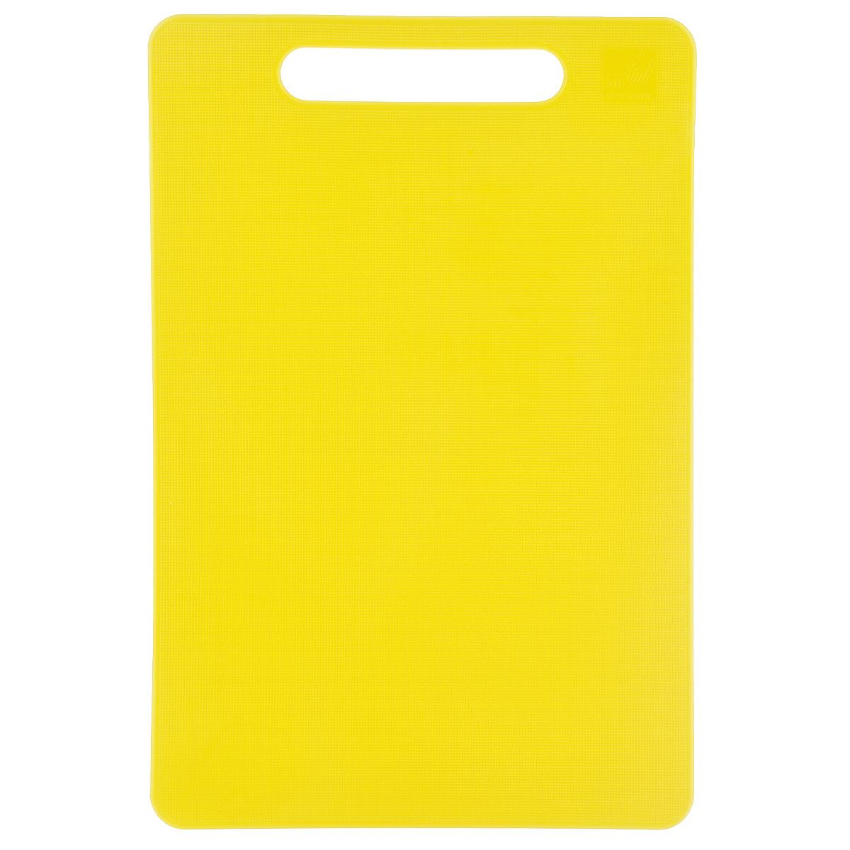 Доска разделочная Kesper, цвет: желтый, 24 х 15 см54 009312Яркая разделочная доска Kesper прекрасно подходит для разделки всех видов пищевых продуктов. Изготовлена из одноцветного прочного пластика. Изделие оснащено отверстием для подвешивания на крючок.Можно мыть в посудомоечной машине.