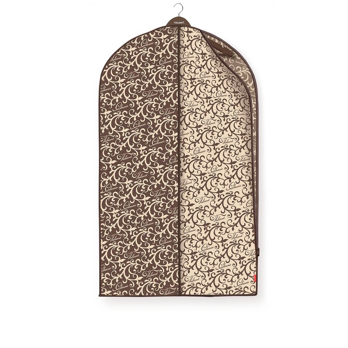 Чехол для одежды Valiant Classic, 60 х 100 см531-401Чехол для одежды Valiant Classic изготовлен из высококачественного нетканого материала, который обеспечивает естественную вентиляцию, позволяя воздуху проникать внутрь, но не пропуская пыль. Чехол очень удобен в использовании. Чехол легко открывается и закрывается застежкой-молнией. Идеально подойдет для транспортировки и хранения одежды. Системы хранения в едином дизайне сделают вашу гардеробную красивой и невероятно стильной.