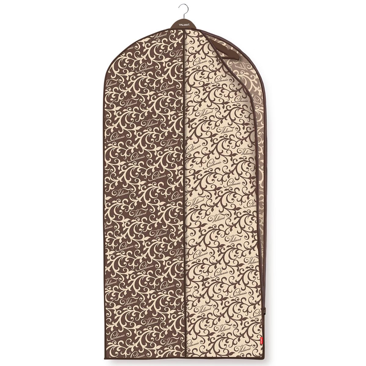 Чехол для одежды Valiant Classic, с боковой молнией, 60 см х 137 смPR-2WЧехол для одежды Valiant Classic изготовлен из высококачественного нетканого материала (спанбонда), который обеспечивает естественную вентиляцию, позволяя воздуху проникать внутрь, но не пропускает пыль. Чехол очень удобен в использовании. Специальная прозрачная вставка позволяет видеть содержимое чехла, не открывая его. Застежка-молния расположена в боковом шве, что обеспечивает легкий доступ к содержимому. Чехол идеально подойдет для транспортировки и хранения одежды. Изысканный дизайн Classic Collection придется по вкусу ценителям классического стиля, он гармонично вписывается в современный классический гардероб.Системы хранения в едином дизайне сделают вашу гардеробную красивой и невероятно стильной.