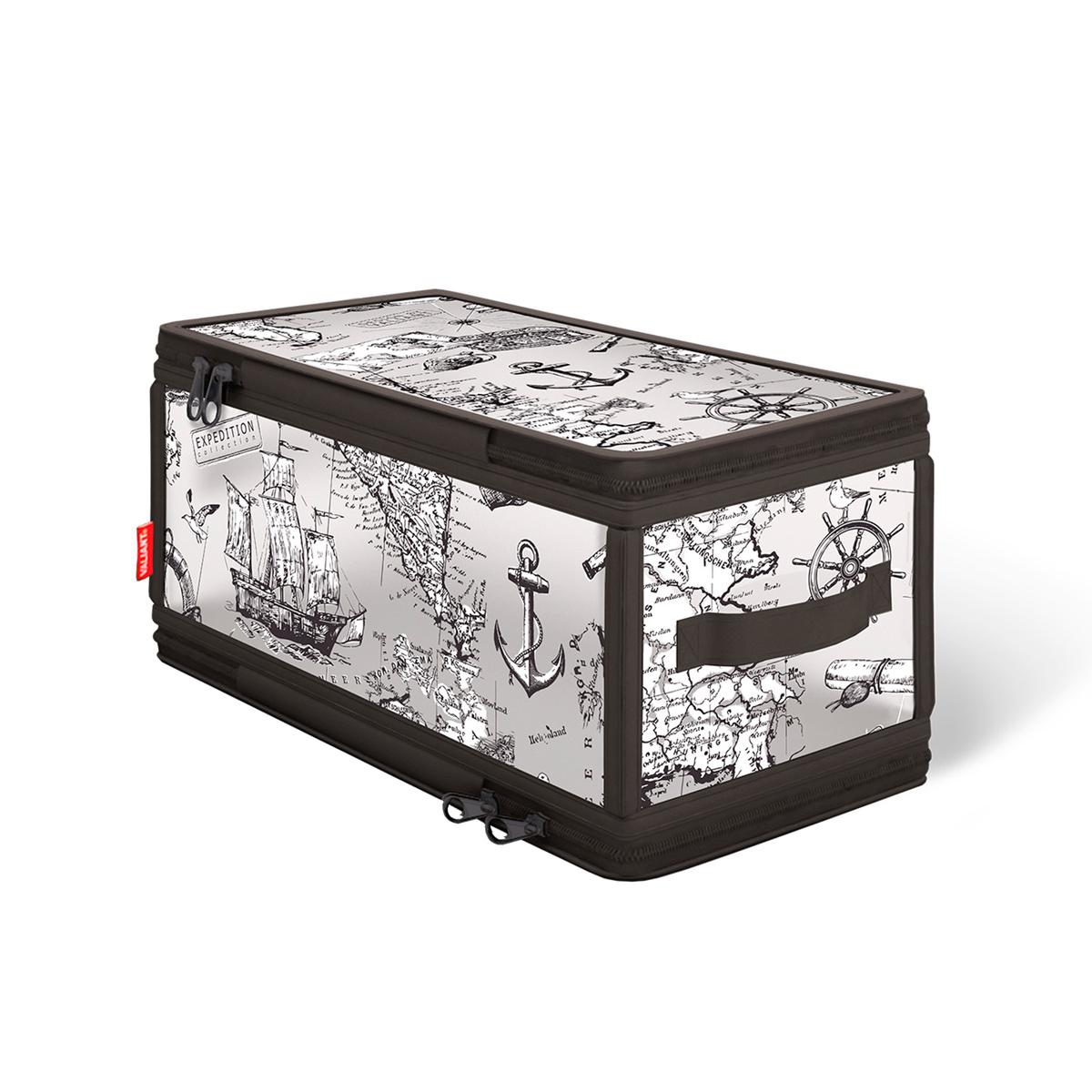 Кофр для хранения Valiant Expedition, с застежкой-молнией, 30 см х 15 см х 15 см кофр для хранения valiant japanese white с застежкой молнией 30 х 28 х 15 см