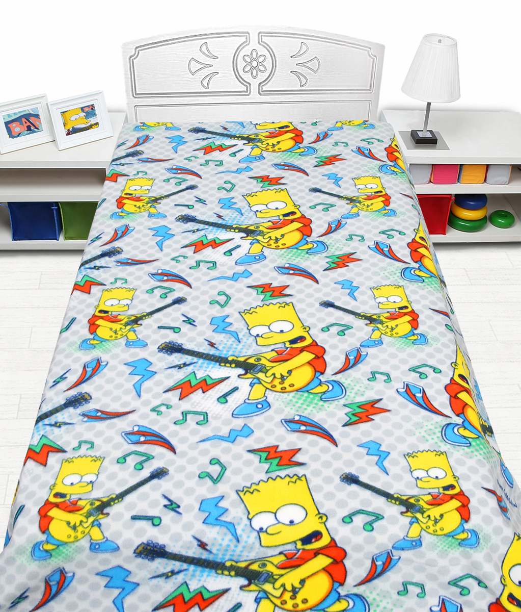 Плед флисовый Mona Liza Simpsons, цвет: серый, размер 150 см х 200 см531-326Режим стирки: при 30 градусах; плотность плетения ткани: средняя