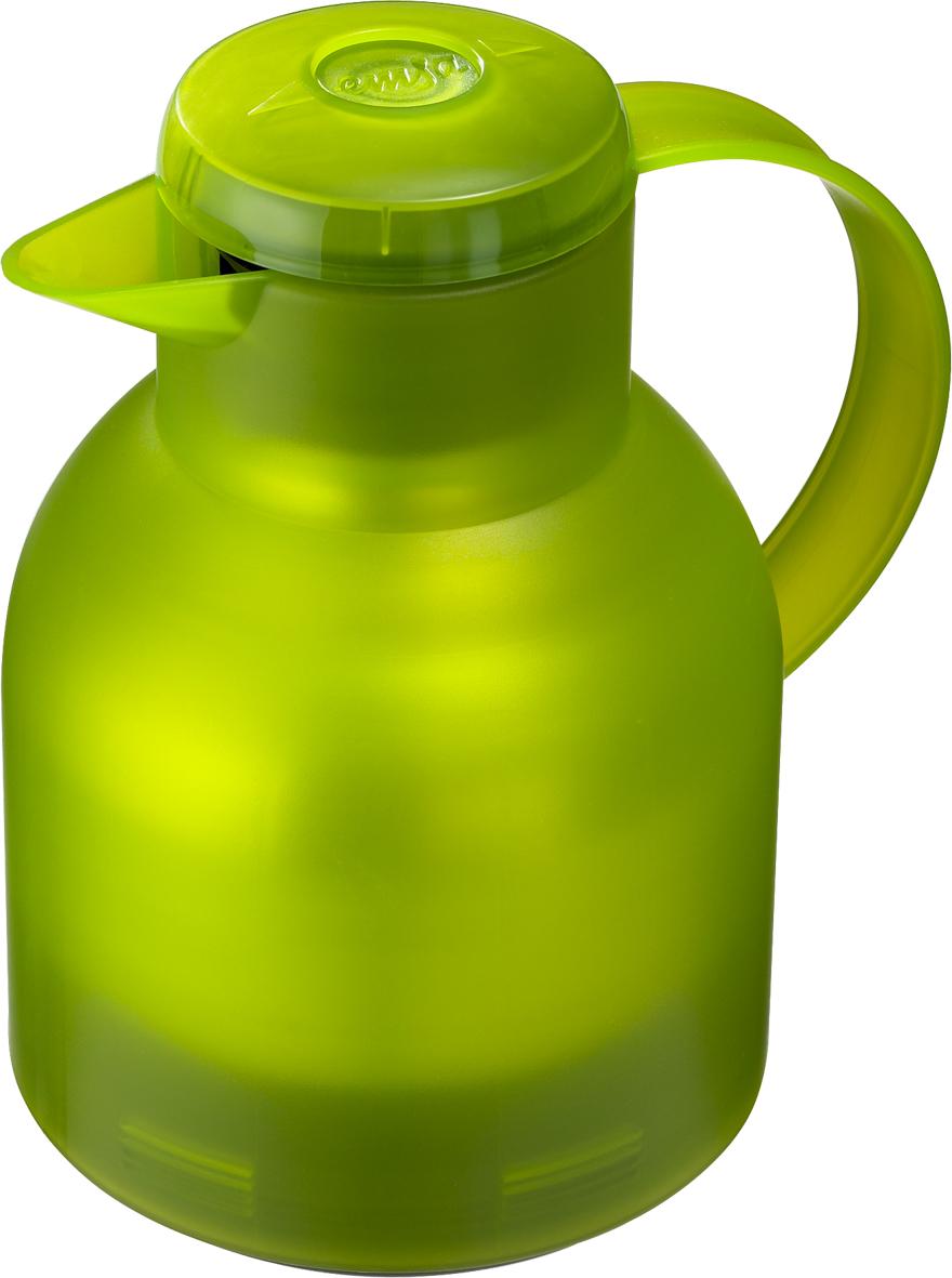 Термос-кофейник Emsa Samba, цвет: салатовый, 1 л505763Чайник-термос Emsa Samba используется для заваривания любых напитков и позволяет сохранять температуру горячего до 12 часов, холодного - до 24 часов. Кувшин-термос выполнен из высококачественного пищевого пластика. Корпус покрыт прозрачным лаком для предохранения от пятен и царапин. Клапан помогает наливать напиток без раскручивания крышки.Безупречное качество и традиционный стиль выделяют кувшин-термос Emsa Samba из ряда подобных. Вакуумный-кувшин Emsa Samba можно мыть в посудомоечной машине.Диаметр дна: 13 см.Диаметр горлышка: 8 см.Высота термоса: 21 см.