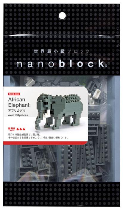 Nanoblock Мини-конструктор Африканский слон