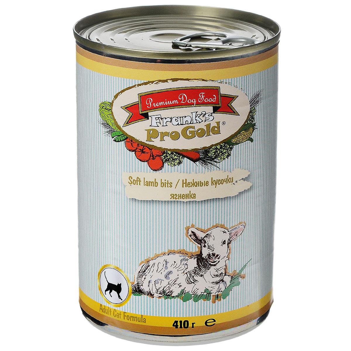 Консервы для кошек Franks ProGold, с ягненком, 410 г0120710Консервы для кошек Franks ProGold - полнорационный продукт, содержащий все необходимые витамины и минералы, сбалансированный для поддержания оптимального здоровья вашего питомца! Ваш любимец, безусловно, оценит нежнейшие кусочки мяса в желе! Произведенные из натуральных ингредиентов, консервы Franks Pro Gold не содержат ГМО, сою, искусственных красителей, консервантов и усилителей вкуса. Состав: мясо курицы, ягненок, мясо и его производные, злаки, витамины и минералы. Пищевая ценность: влажность 81%,белки 6,5%, жиры 4,5%, зола 2%, клетчатка 0,5%. Добавки: витамин A 1600 IU, витамин D 140 IU, витамин E 10 IU, таурин 300 мг/кг, железо E1 24 мг/кг, марганец E5 6 мг/кг, цинк E6 15 мг/кг, йодин E2 0,3 мг/кг. Калорийность: 393,6 ккал. Товар сертифицирован.
