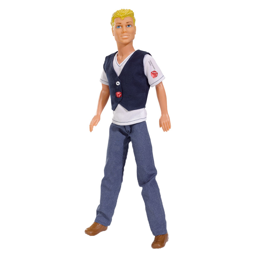 Simba Кукла Steffi Love: Casual Kevin, цвет одежды: белый, темно-синий погружной блендер philips hr 1605 00 daily collection