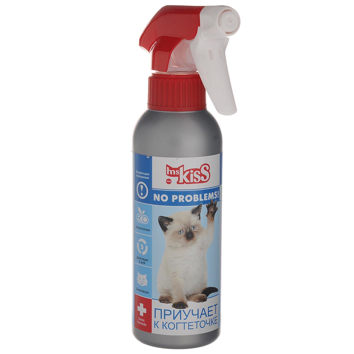 Спрей зоогигиенический для кошек Ms.Kiss Приучает к когтеточке, 200 мл0120710Средство для кошек Ms.Kiss Приучает к когтеточке поможет справиться с вредной привычкой домашней любимицы поточить свои когти об обои и мебель. Спрей предназначен для облегчения ухода за котятами и взрослыми кошками. После его использования ваша киска будет точить когти только в положенном месте. Способ применения: Встряхнуть флакон перед применением. Обработать спреем соответствующие места и предметы. Дать обнюхать когтеточку. Обработку повторять по мере необходимости. Помните, главным при обучении питомиц является постоянство ваших усилий, терпение и комплексный подход. Меры предосторожности: Избегать попадания в глаза. После обработки вымыть руки с мылом. Хранить отдельно от пищевых продуктов, в местах, недоступных детям и домашним животным при температуре от -5°С до +30°С. Использовать только по назначению. Состав: вода подготовленная, эмульгатор, масло котовника, экстракт валерианы, консерванты. Объем: 200 мл.Товар сертифицирован.