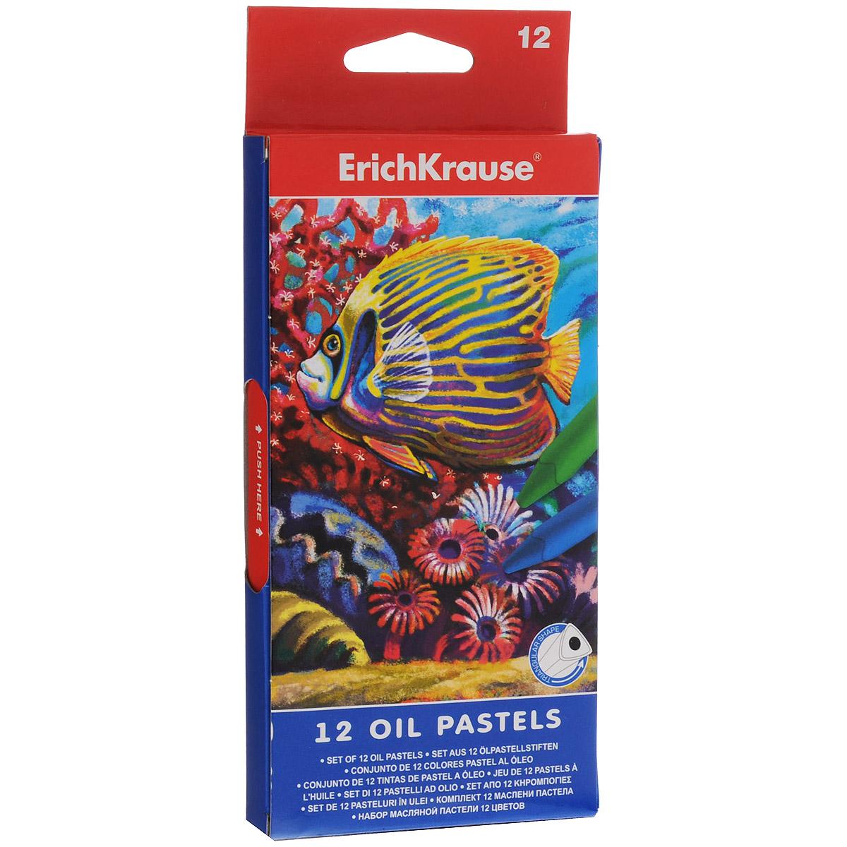 Пастель масляная Erich Krause, 12 цветов. EK 34933FS-36052Пастель масляная Erich Krause предназначена для эскизных и живописных работ. Пастель изготовлена с использованием пигментов и восков. Обладает мягкой текстурой и насыщенными цветами. Не крошится при рисовании, мягко ложится на бумагу. Каждый мелок в индивидуальной бумажной обертке.Длина мелка: 7,5 см.