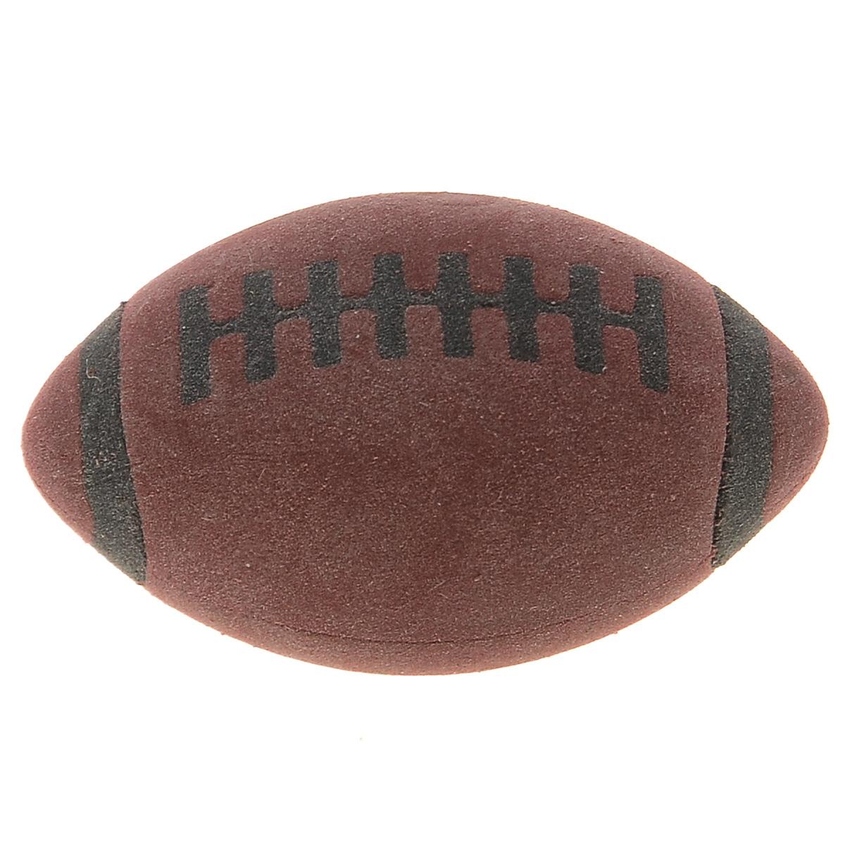 Brunnen Ластик Мяч для регби, цвет: коричневый730396Ластик Мяч для регби станет незаменимым аксессуаром на рабочем столе не только школьника или студента, но и офисного работника. Он легко и без следа удаляет надписи, сделанные карандашом. Ластик имеет форму и окраску в стиле мяча для регби, поэтому его очень удобно держать в руке.
