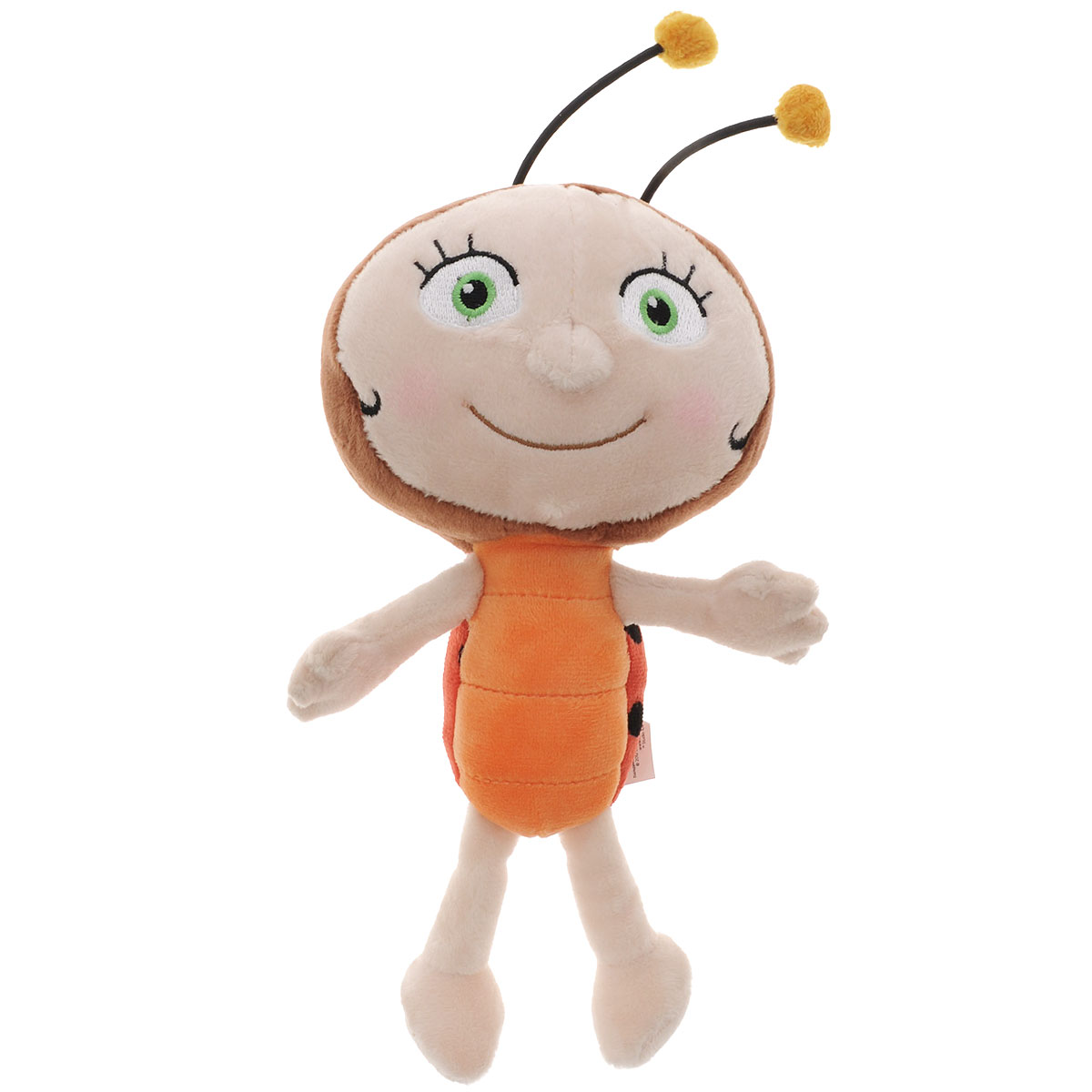 Игрушка мягкая Пчелка Майя Лара, цвет: бежевый, коричневый, 23 см. GT6454