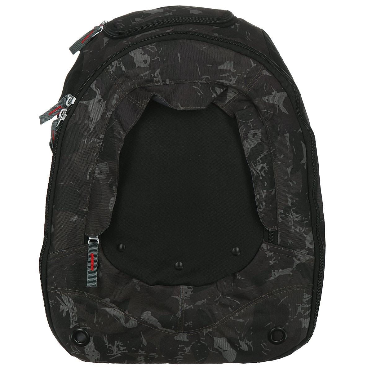 Рюкзак школьный Action, цвет: черный, хаки. AB1102372523WDШкольный рюкзак Action - это красивый и удобный рюкзак, который подойдет всем, кто хочет разнообразить свои школьные будни. Рюкзак выполнен из прочного материала в стиле милитари. Рюкзак оснащен одним вместительным отделением, застегивающимся на застежку-молнию. Основное отделение содержит два накладных кармана. На внешней стороне расположен карман на застежке-молнии. Сверху рюкзака имеется небольшой карман, который отлично подойдет для разных мелочей.Рюкзак имеет мягкую спинку и оснащен мягкими плечевыми лямками с возможностью регулирования.