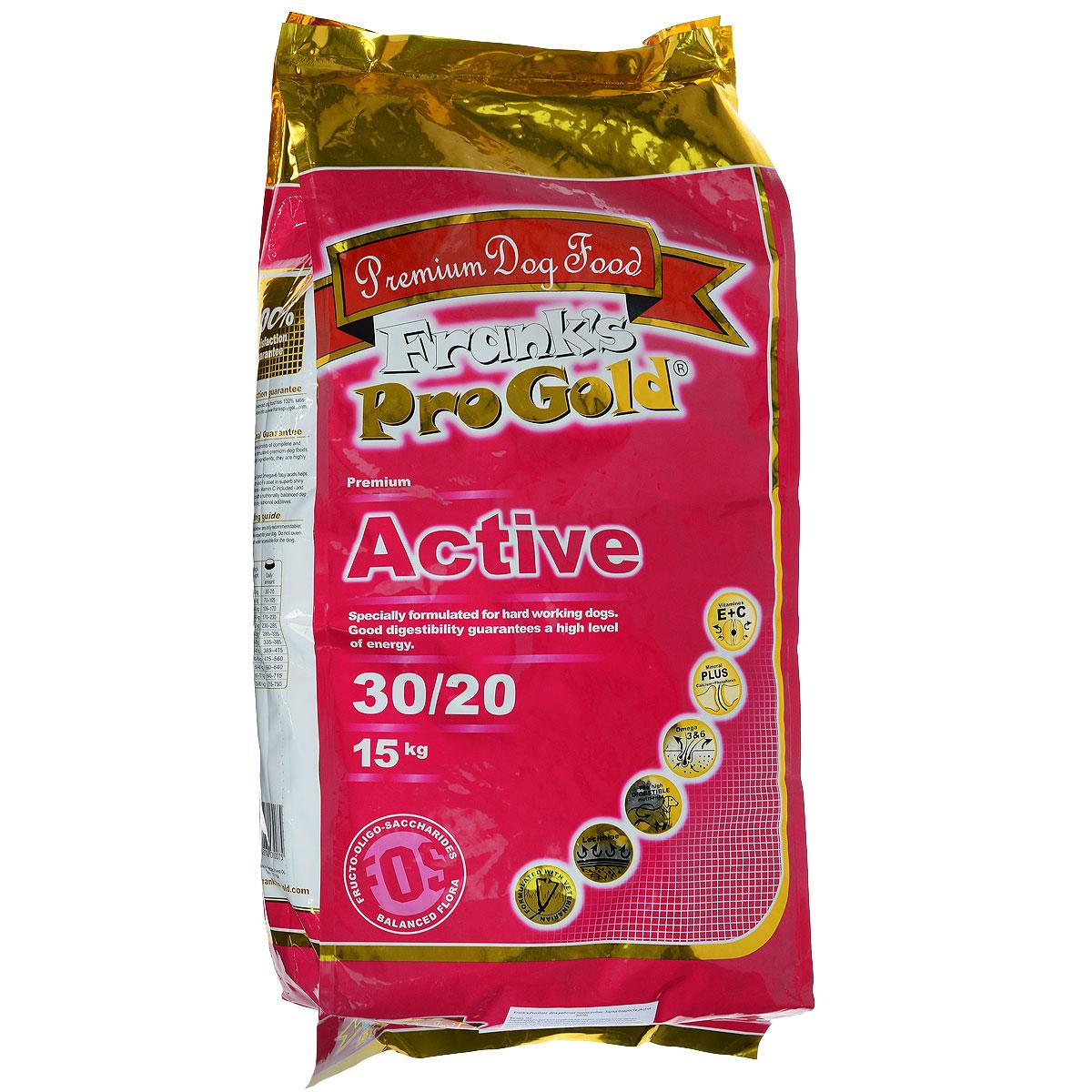Корм сухой Franks ProGold Заряд бодрости для рабочих пород собак, 15 кг17916Сухой корм Franks ProGold Заряд бодрости разработан для ездовых, служебных, спортивных и охотничьих собак. Высокое содержание витамина Е помогает работе кишечника и способствует лучшему усваиванию пищи. Хорошая усвояемость и высокое содержание протеина позволяет не увеличивать нормы кормления при тяжелых тренировках, охоте и во время соревнованийНе содержит пшеницы, соевых добавок, ГМО.Состав: дегидрированное мясо курицы, маис, рис, куриный жир, дегидрированная рыба, свекла, ячмень, кэроб, льняное семя, гидролизованная куриная печень, яичный порошок, дрожжи, минералы и витамины, L-карнитин, лецитин (0,5 %), инулин (0,5 % FOS), гидролизованные хрящи (источник хондроитина), гидролизованные рачки (источник глюкозамина), таурин. Пищевая ценность: белки 30,0%, жиры 20,0%, клетчатка 2,5%, зола 6,5%, влажность 10,0%, фосфор 1,0%, кальций 1,8%.Пищевые добавки: витамин-A (E672) 20000 IU/кг, витамин-D3 (E671) 2000 IU/кг, витамин-E (альфа токоферола ацетат) 200 мг/кг, витамин-C (фосфат аскорбиновой кислоты) 70 мг/кг, E1 50 мг/кг, E2 1,5 мг/кг, E3 1 мг/кг, E4 5 мг/кг, E5 65 мг/кг, E6 0,3 мг/кг.Товар сертифицирован.